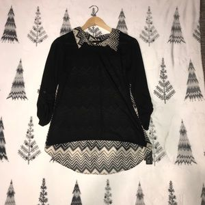 BCX • Long sleeve blouse